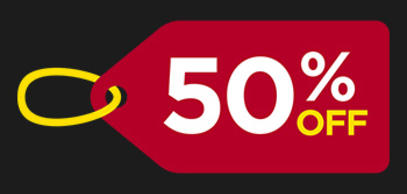 WE ARE BACK with a 50 % DISCOUNT ON YOUR ORDER !